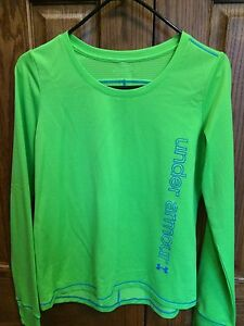 UNDER ARMOUR Lime Green Thermal Long Sleeve Shirt - Youth XL