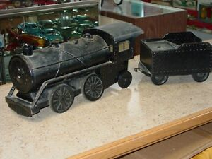 vintage toys train with coal car pressed