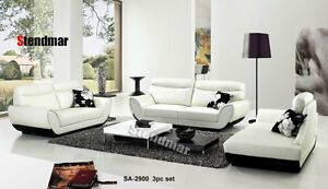 3PC NEW MODERN EURO DESIGN LEATHER SOFA SET SA2900