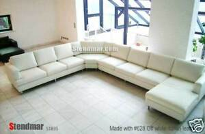 NEW 4PC EURO DESIGN U SECTIONAL LEATHER SOFA S1835