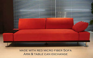 NEW MODERN EURO DESIGN MICRO FIBER FABRIC SOFA S018M