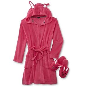 Joe Boxer Women's Plus Bathrobe & Slippers - Bunny