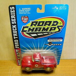 1 43 red texaco f 100 die cast ford pickup truck
