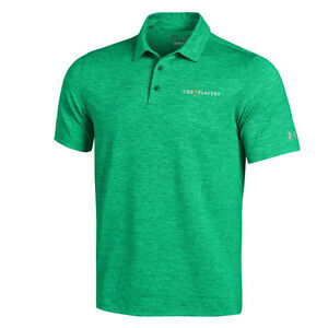 THE PLAYERS Under Armour Elevated Polo - Heathered Green