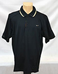Nike Dry-Fit Shirt Size L ( Black with legit gold embroidered nike swoosh)