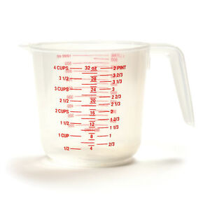 Norpro Plastic Measuring Cup with Metric Equivalents 4 Cups