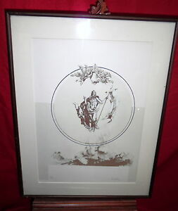 Framed Lithograph - The Ascension Of Jesus Christ - R. Singleton - 1978 - 22100