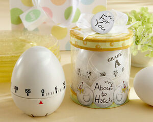 12 About To Hatch Egg Shaped Kitchen Timer Baby Shower Favors