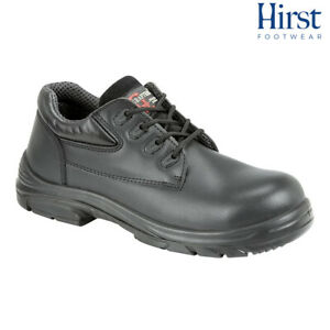 MENS GRAFTERS BLACK LEATHER WIDE FITTING SAFETY WORK SHOES SIZE 6–13 M9504A KD