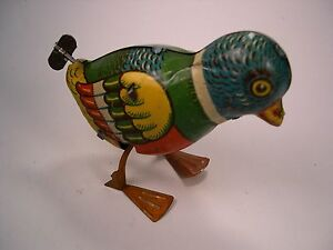 chein co wind up bird vintage made in usa