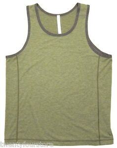 NWT Mens Lululemon Invert Tank Top Shirt in Heathered Spiced Olive Green sz XL