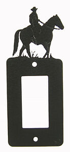 Male Man Rider Single Rocker Switch Plate Black Horse