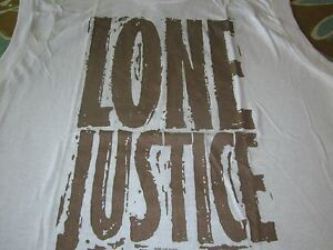 LONE JUSTICE TOUR 85 VINTAGE MUSCLE TEE SHIRT SCREEN STARS TAG LARGE