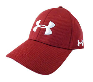 NEW Under Armour Performance Heat Gear MaroonWhite Fitted LXL HatCap