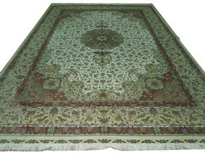 High End New 9x12 Rug Superior Quality Silk on Silk Traditional Design Rug