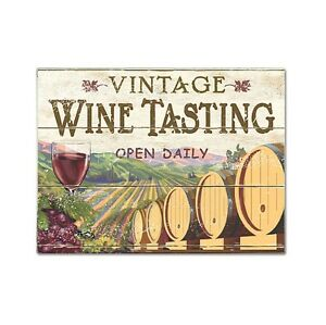 Cutting Board, VINTAGE WINE TASTING by Epic Wine Products--11 3/4