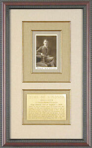 KING EDWARD VIII (GREAT BRITAIN) - PICTURE POST CARD SIGNED