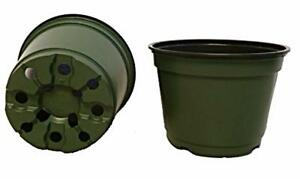 6 Inch Pots Qty. 100 6quot; Round Nursery and Greenhouse Pots Green Plastic