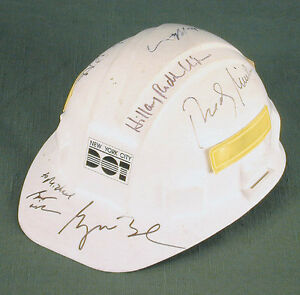 GEORGE W. BUSH - HELMET SIGNED WITH CO-SIGNERS