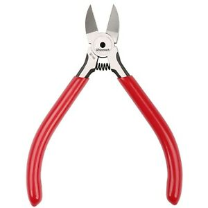 Diagonal Cable Wire Cutters Jaw Micro Beading Pliers Nipper Leaf Spring 4.5in. $6.99
