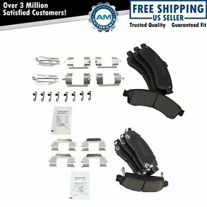 Premium Posi Ceramic Brake Pad Set Front Rear Kit for Chevy GMC Buick $45.15