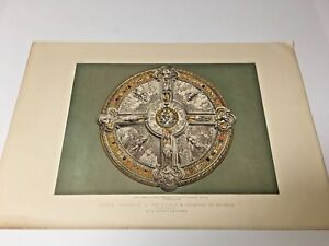 19th Century Large Chromolithograph of Decorative Arts the Shield $34.00