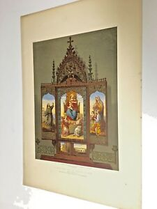 19th Century Large Chromolithograph of a Religious Altar Piece $34.00