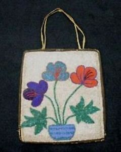 Vintage Antique Circa 1910-1930's Indian Beaded Possible Bag Purse