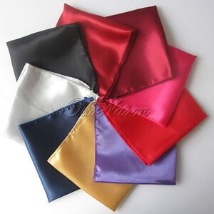100 x Satin Square Dinner Table Cloth Napkins Wedding Handkerchief Multi Purpose