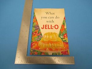 1936 What You Can Do With Jell-O Layer Mold Design Unmolding 26 Pages S1016