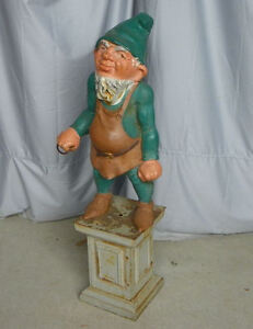 Antique Gnome or Dwarf Cast Iron Hitching Post
