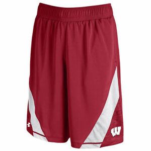 Wisconsin Badgers Under Armour Microstripe Performance Shorts - Red - NCAA