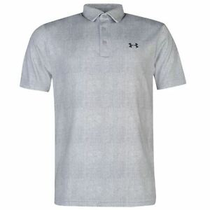 Under Armour Mens Play Off Golf Polo Shirt UPF 30 Sports Short Sleeve Collar Top