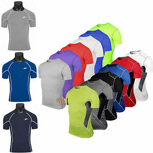 Mens Body Armour Exercise Baselayers Skins Thermal Shirt Bikes Cycling Tops Tee