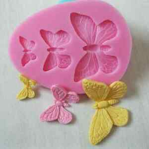 3D Butterfly Cake Decor Mold Silicone Fondant Sugarcraft Chocolate Baking Mold