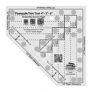 Creative Grids Pineapple Trim Tool Mini Sewing and Quilting Ruler $20.99