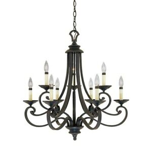 Designers Fountain Barcelona 9 Light Chandelier Natural Iron - 9039-NI