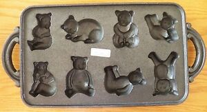 Cast Iron Metal Baking Mold 8 Bears Cakes Muffins Corn Bread Cook's Bazaar 15