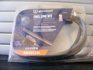 Attwood Universal Fuel Line Kit w Demand Valve – 6'