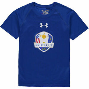 2016 Ryder Cup Under Armour Youth Tech Performance T-Shirt - Royal - Golf