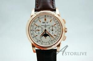 18k Rose Patek Philippe Ref 5970 100% FACTORY NEW OLD STOCK OPEN CERT EXT RARE!