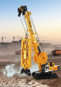 KDW Diecast XG450D Trenching Machine Construction Equipment crane style [ORANGE]
