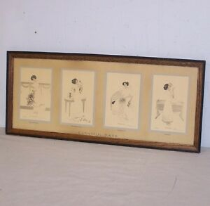 Eventful Days of a Woman Antique Yard Long Print $275.00