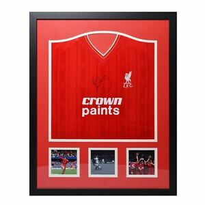 Team Kenny Dalglish Signed Jersey T Shirt Tee Liverpool Football Sports Framed