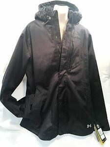 Under Armour ColdGear Infrared Sienna 3-In-1 Hooded Jacket Womens Large Black