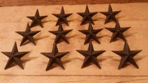 Cast Iron Nail Star Large Set of Twelve Home Decor 0170 02110
