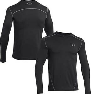 Men's Under Armour Coldgear Evo Fitted Long Sleeve Shirt  Black  Size XL