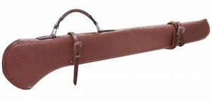 40quot; Leather Rifle Shotgun Scabbard Case Holster Hunting Storage for Horse or Car