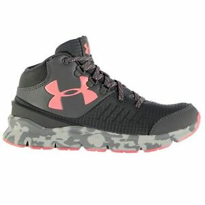 Under Armour Kids Overdrive Mid Girls Boys Shoes Lace Up Sport Running Training