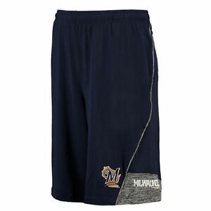 Milwaukee Brewers Under Armour Performance Loose Fit Tech Shorts - Navy - MLB